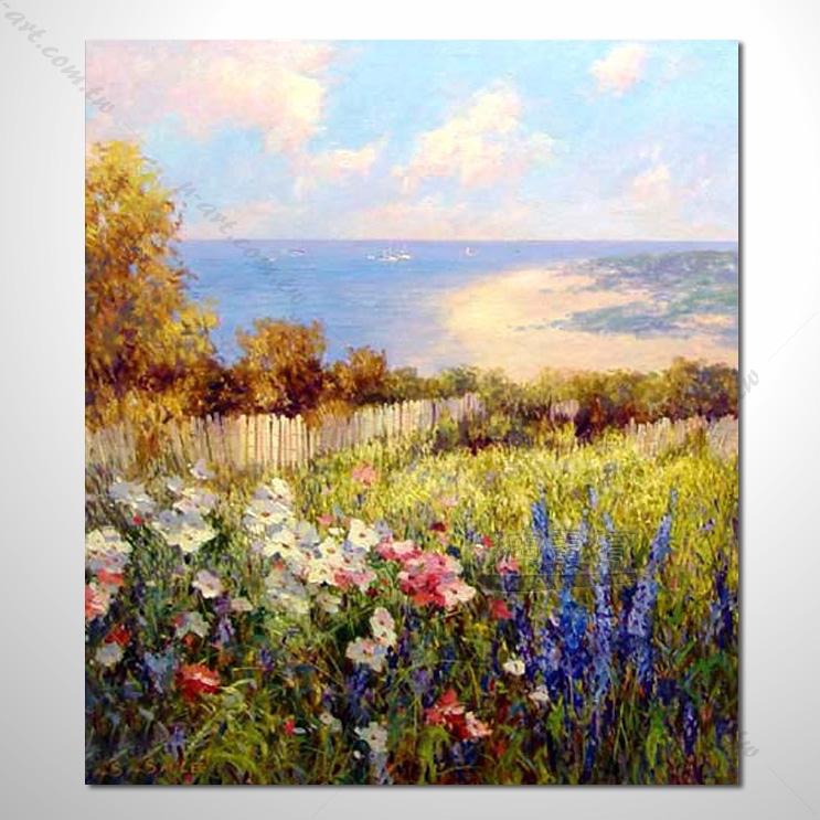 087 香气 乡村风景 山水油画 纯手绘 油画 装饰 挂画 田园风景