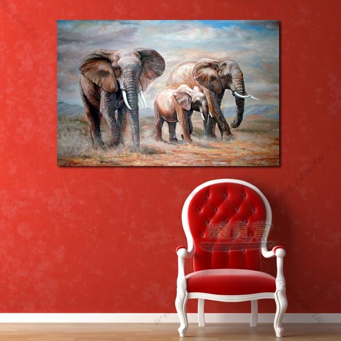 动物王国 大象12 油画 装饰品 山水画 艺术品 插画 无框画 浮雕立体3d