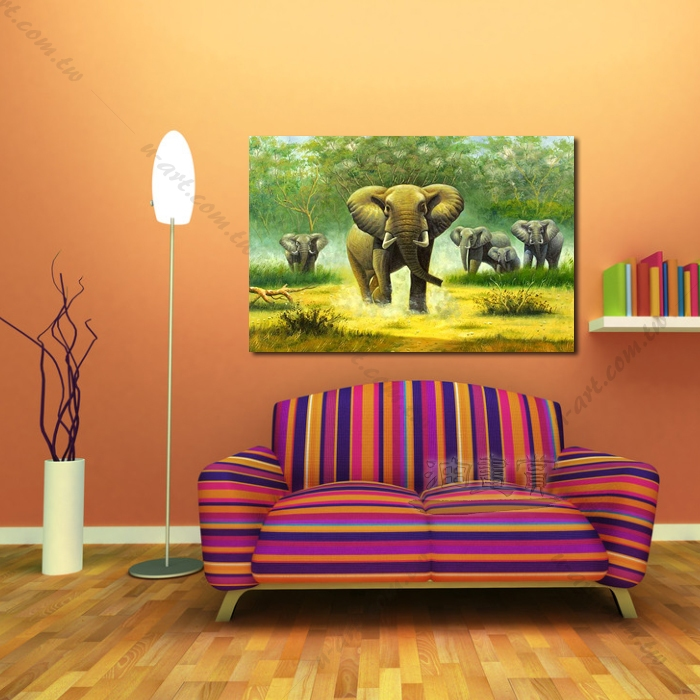 动物王国 大象02 油画 装饰品 山水画 艺术品 插画 无框画 浮雕立体3d
