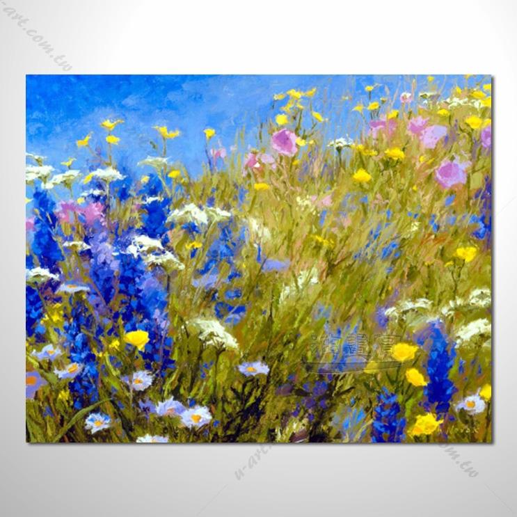 【花田景色风景油画】114 香气 乡村风景画 欧式印象油画 纯手绘 油画