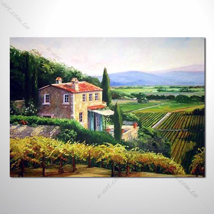 49 香气 乡村风景 山水油画 纯手绘 油画 装饰 挂画 田园风景