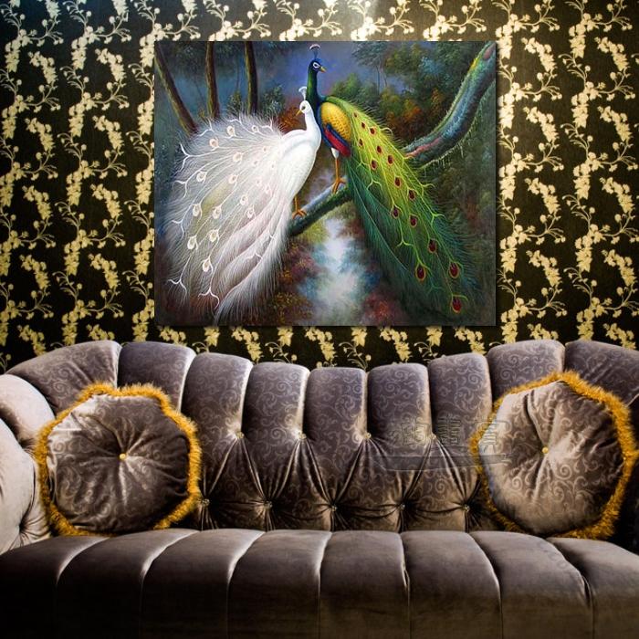 动物王国 孔雀04 油画 装饰品 山水画 艺术品 插画 无框画 浮雕立体3d