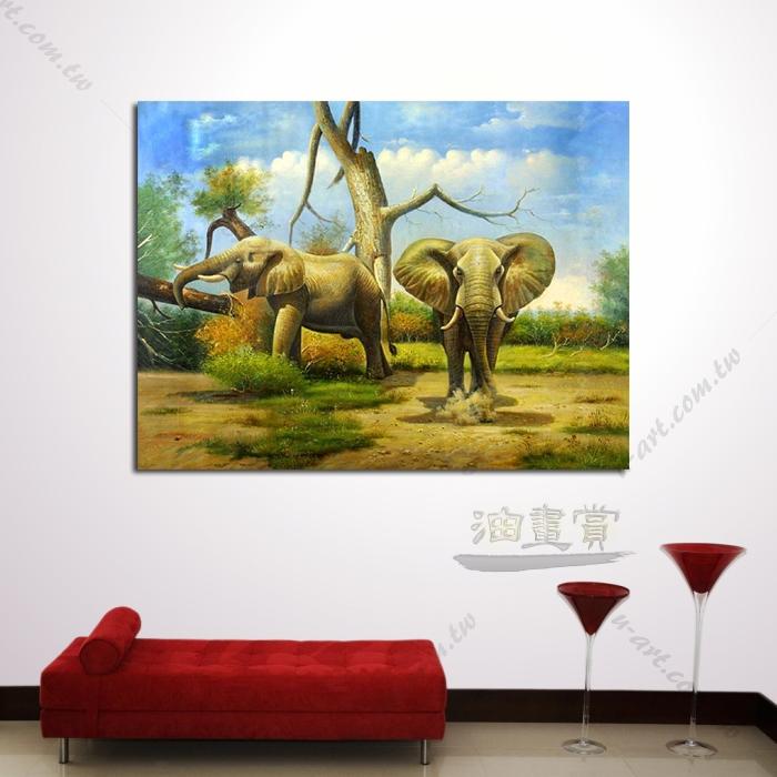 动物王国 大象05 油画 装饰品 山水画 艺术品 插画 无框画 浮雕立体3d