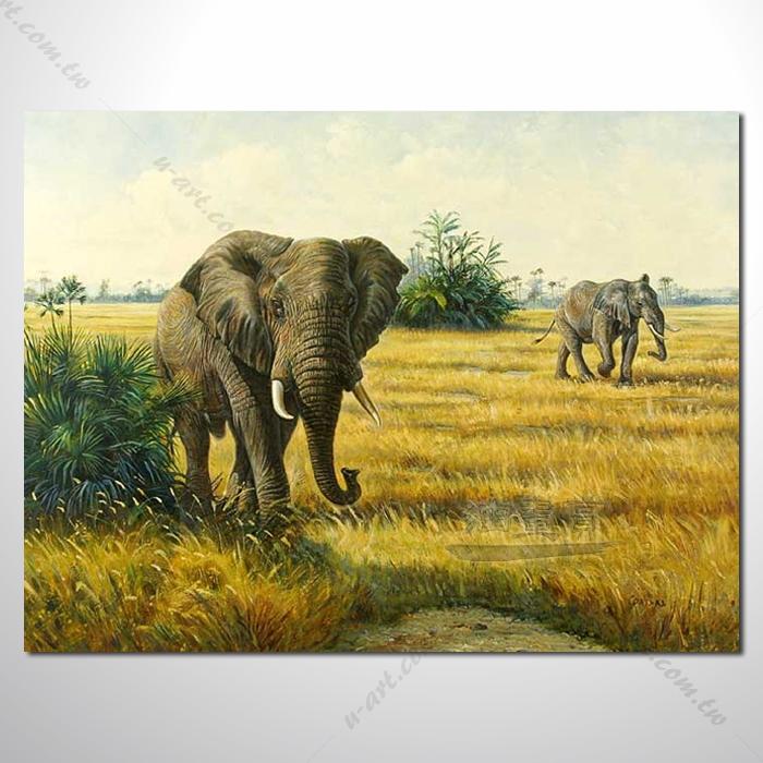 动物王国 大象06 油画 装饰品 山水画 艺术品 插画 无框画 浮雕立体3d