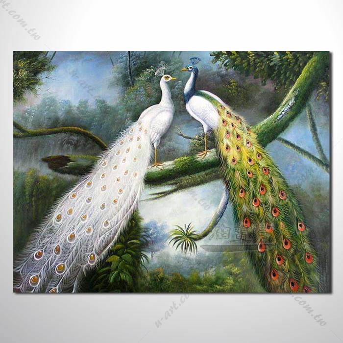 动物王国 孔雀06 油画 装饰品 山水画 艺术品 插画 无框画 浮雕立体3d