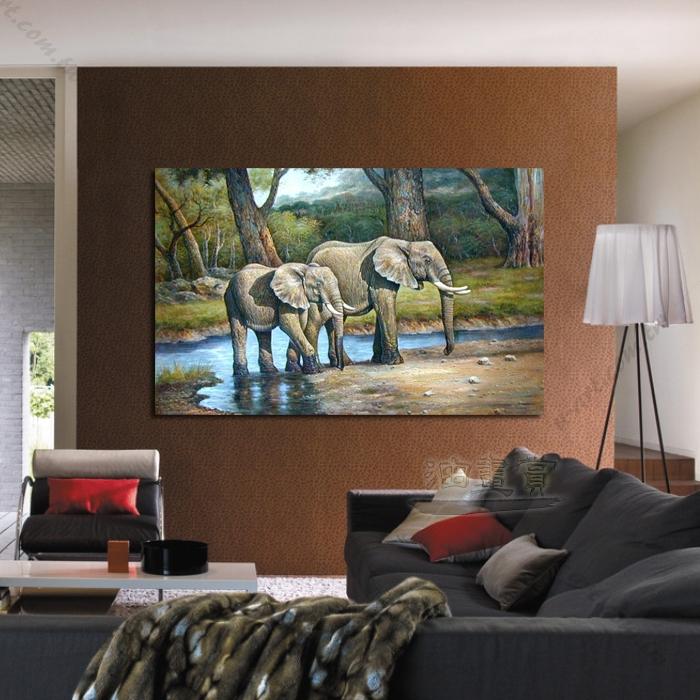 动物王国 大象07 油画 装饰品 山水画 艺术品 插画 无框画 浮雕立体3d