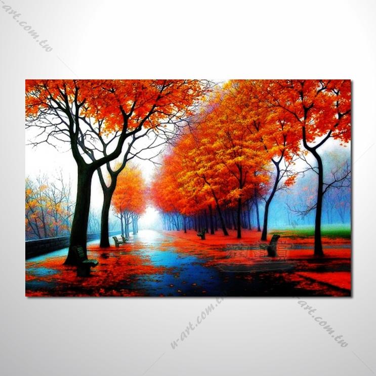 装饰风景35 风景 油画 装饰品 山水画 艺术品 插画 无