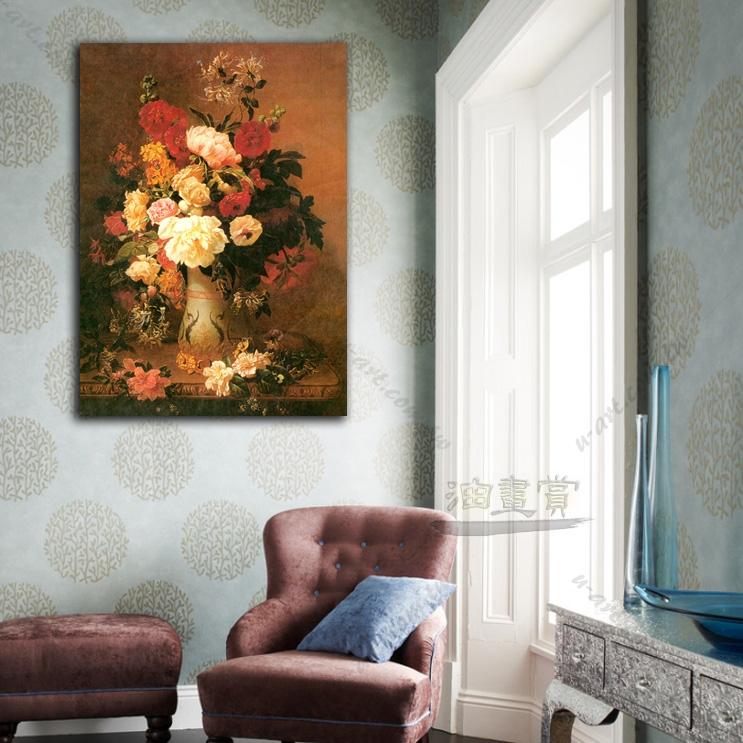 欧式 起居室 油画