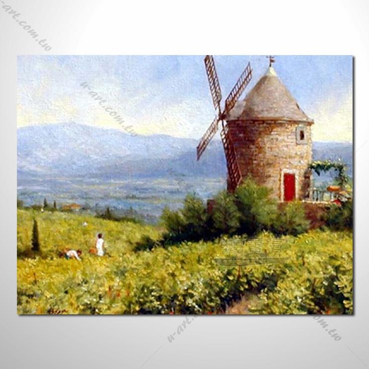 【花田景色风景油画】086 香气 乡村风景画 欧式印象油画 纯手绘 油画