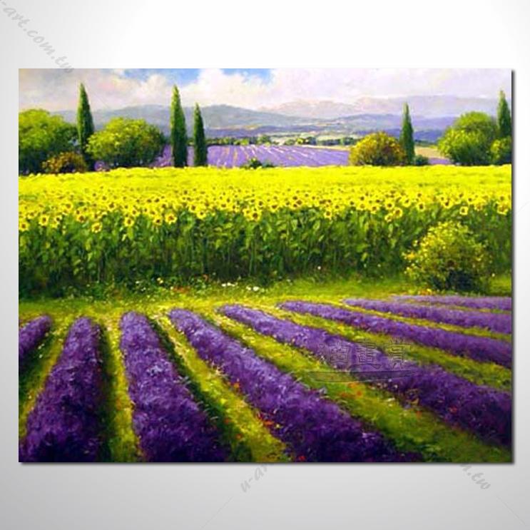 332 香气 乡村风景 山水油画 纯手绘 油画 装饰 挂画 田园风景