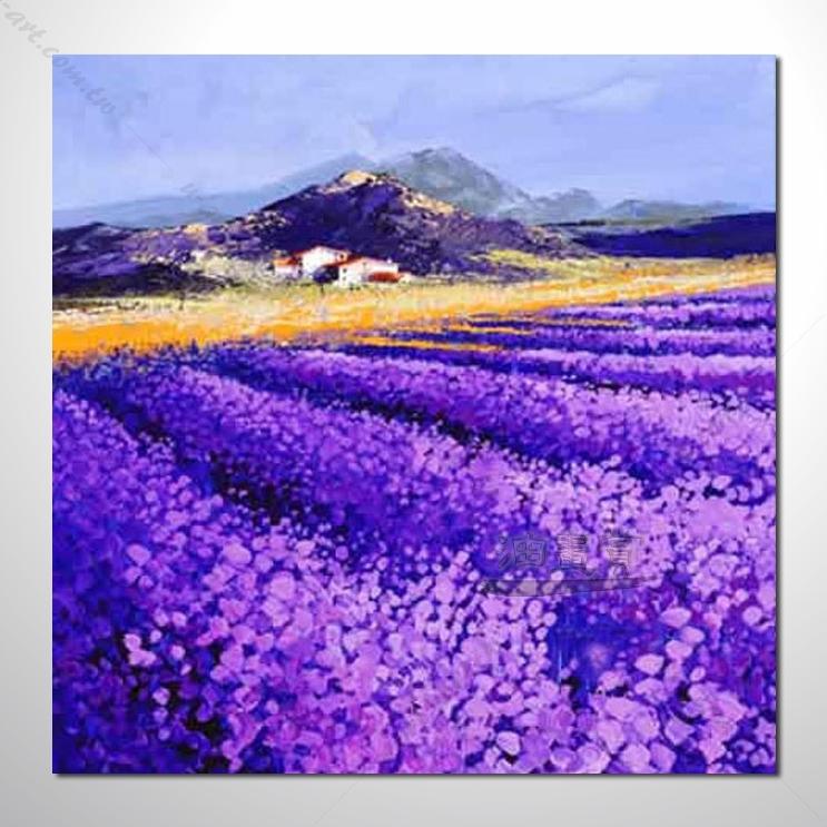 310 香气 乡村风景 山水油画 纯手绘 油画 装饰 挂画 田园风景