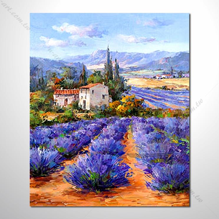 紫恋薰衣草160 香气 乡村风景 山水油画 纯手绘 油画